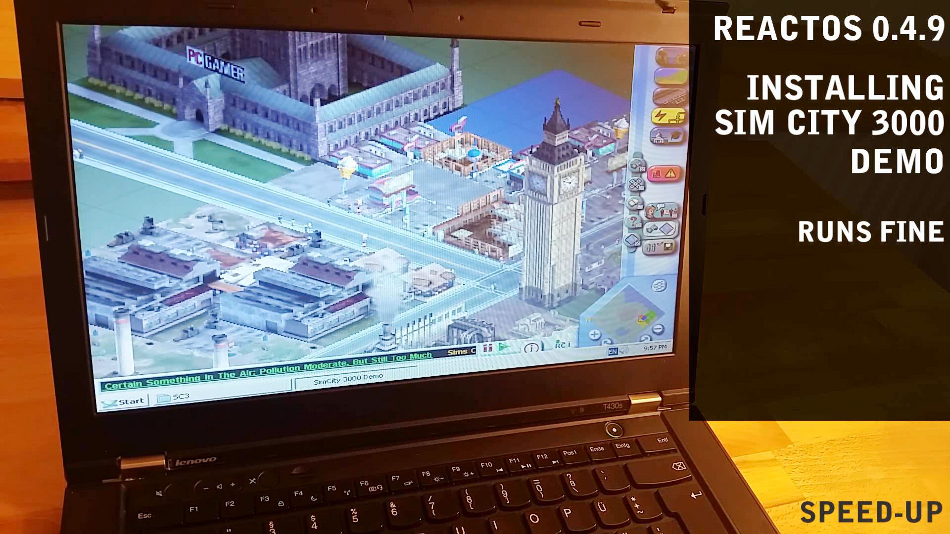 ReactOS tested on real hardware ThinkPad T430s – PANORAMA CIRCLE