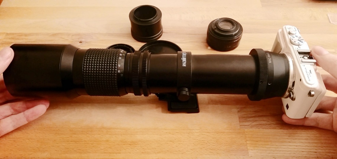 Walimex F8 500mm and tele-converter