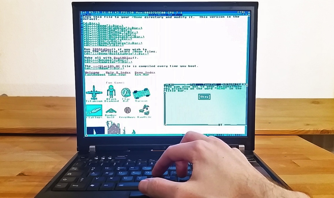 TempleOS on ThinkPad T60