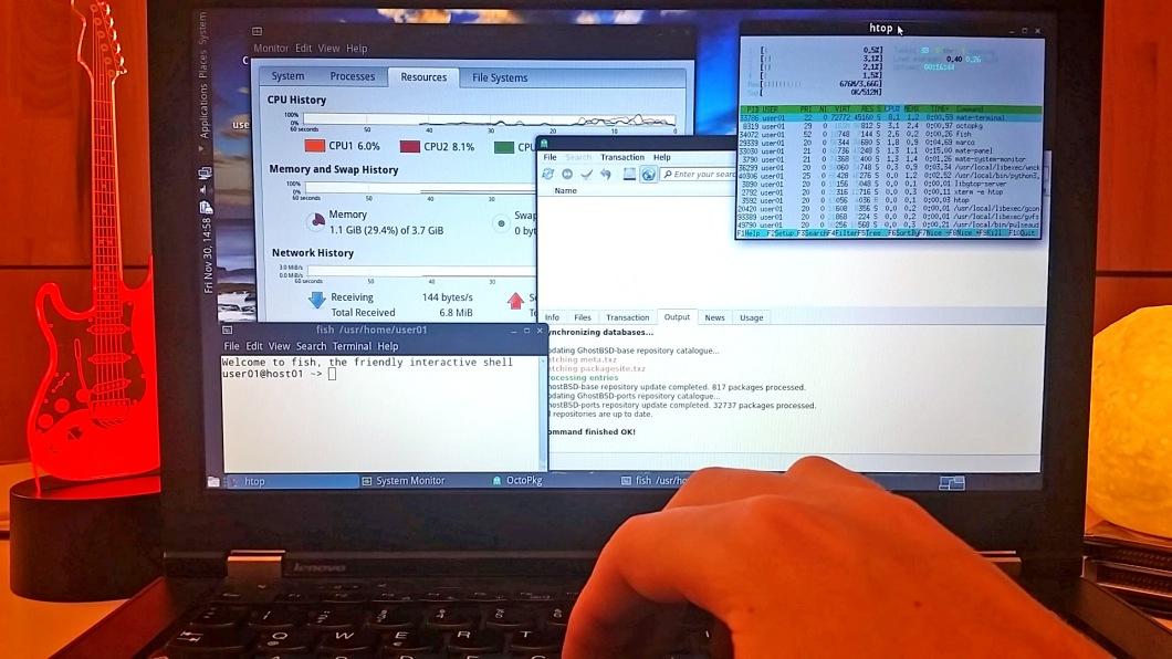 GhostBSD desktop